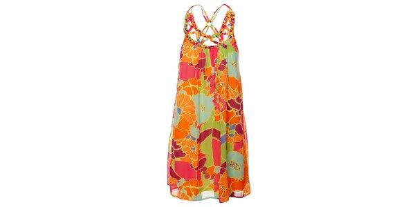 Dámské pastelové šaty Uttam Boutique s velkými květy