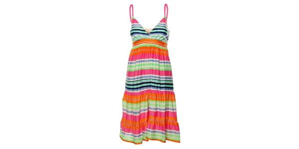 Dámské duhové proužkované šaty Uttam Boutique