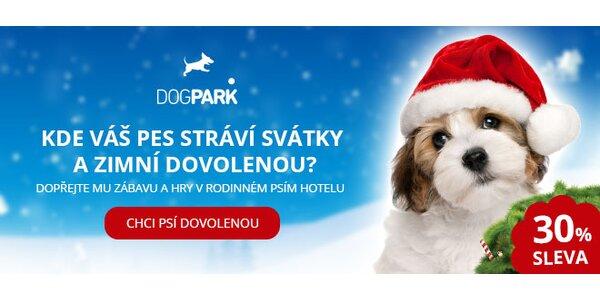 Sváteční pobyt pro vašeho mazlíčka v rodinném psím hotelu Dogpark