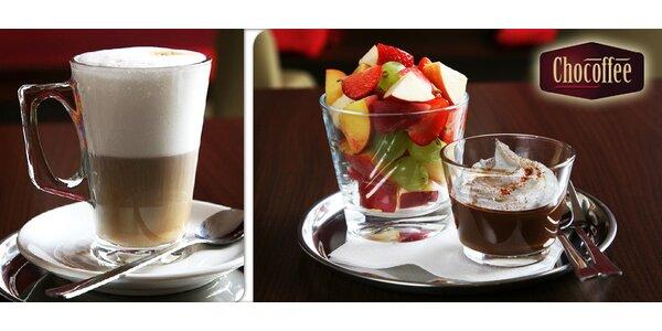 2x pohár stáčené belgické čokolády + 2x šálek kávy