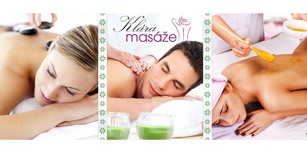 Příjemné rekondiční masáže dle vašeho výběru
