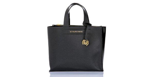 Dámská černá kabelka s přívěskem Giorgio di Mare