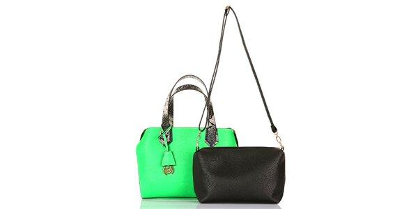 Dámská zelená kabelka s vyjímatelnou taštičkou Giorgio di Mare