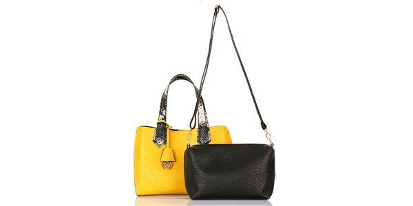 Dámská žlutá kabelka s vyjímatelnou taštičkou Giorgio di Mare