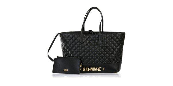 Dámská černá prošívaná kabelka s odepínací kapsičkou Giorgio di Mare