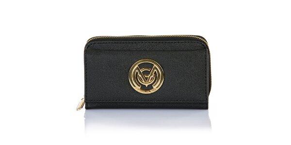 Dámská černá peněženka se zipem Giorgi di Mare