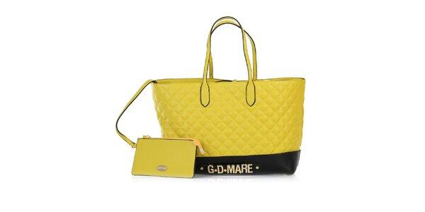 Dámská žlutá prošívaná kabelka s odepínací kapsičkou Giorgio di Mare
