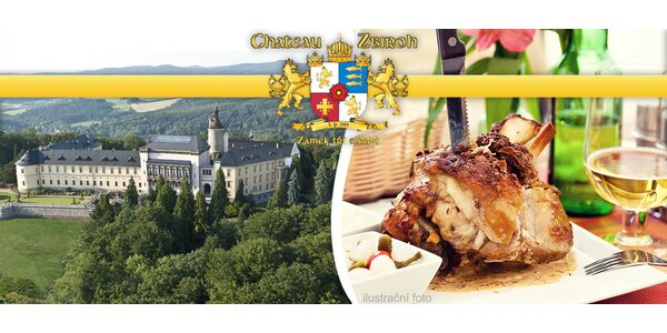 Dozlatova pečené kolínko (1 kg) na zámku Zbiroh