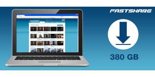 FastShare.cz - kredit 380 GB na hudbu, videa i data!