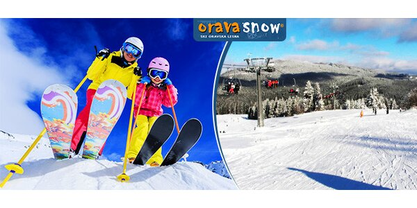 Denní skipas do areálu Orava Snow na Slovensku