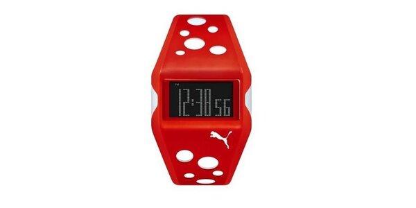 Unisex digitální hodinky Puma Active Red/White