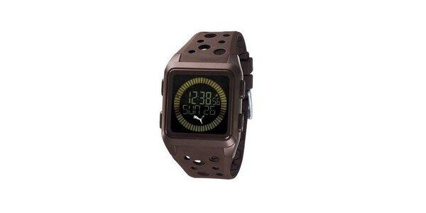 Pánské digitální hodinky Puma Agitation brown