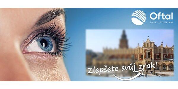 Bezkontaktní laserová operace obou očí