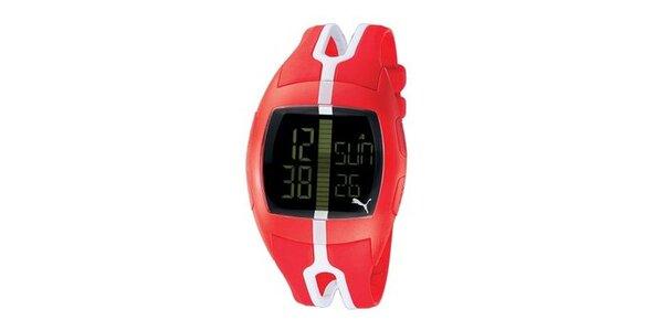 Unisex digitální hodinky Puma Jump Red/White