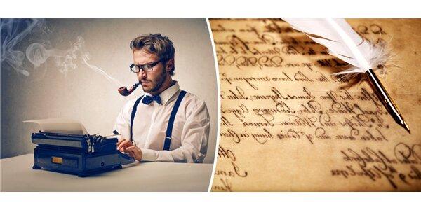 Víkendový kurz tvůrčího psaní