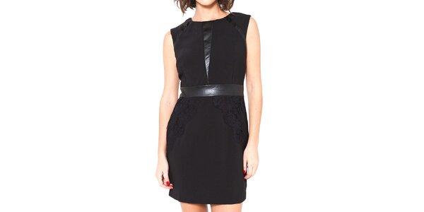 Dámské černé šaty bez rukávů Mademoiselle Agathe