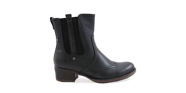 Dámské černé boty s pružnou vsadkou Ctogo Gogo
