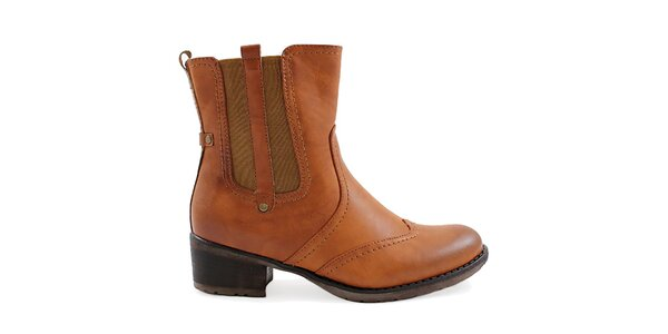 Dámské hnědé boty s pružnou vsadkou Ctogo Gogo