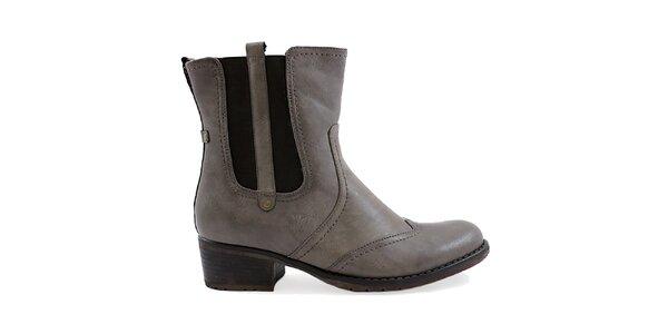 Dámské šedé boty s pružnou vsadkou Ctogo Gogo