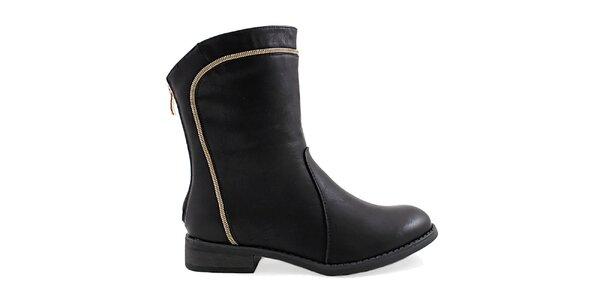 Dámské černé kotníkové boty Ctogo Gogo