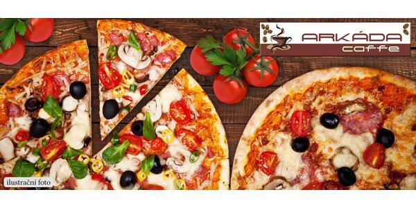 1+1 pizza dle vlastního výběru zdarma v Arkáda Caffe
