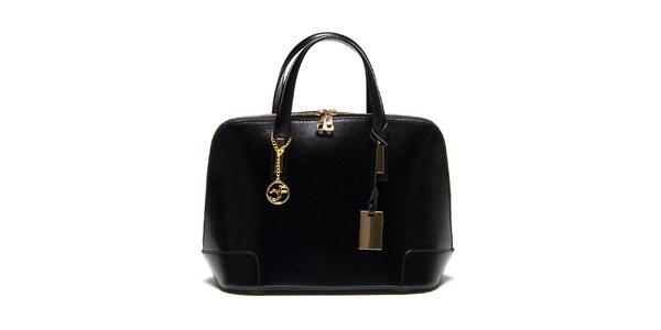 Dámská černá kufříková kabelka Carla Ferreri