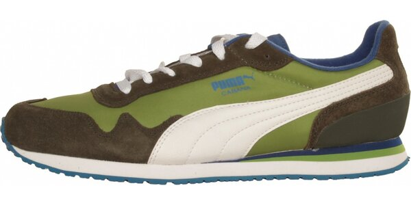 Pánské zeleno-hnědé tenisky Puma