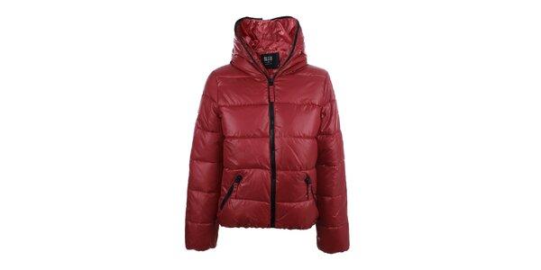Dámská červená bunda s černým zipem Big Star