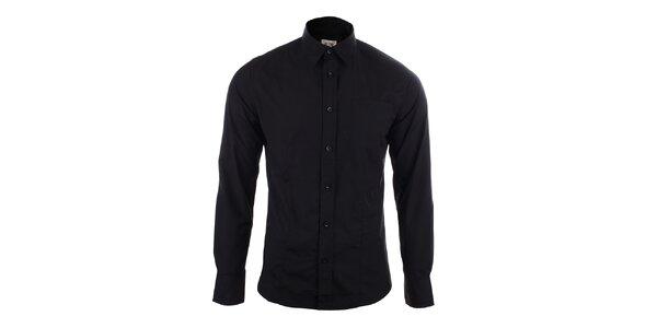 Pánská černá slim fit košile Big Star