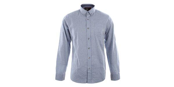 Pánská světle modrá slim košile s dlouhým rukávem Big Star