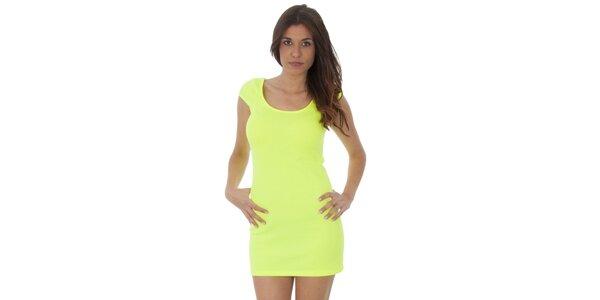 Dámské neónově žluté šaty Maria Villoresi