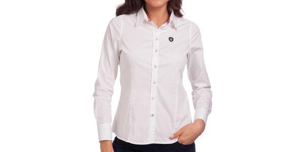 Dámská bílá košile s dlouhým rukávem Galvanni