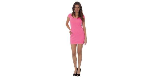 Dámské neónově růžové šaty Maria Villoresi