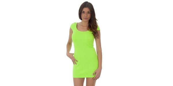 Dámské neónově zelené šaty Maria Villoresi