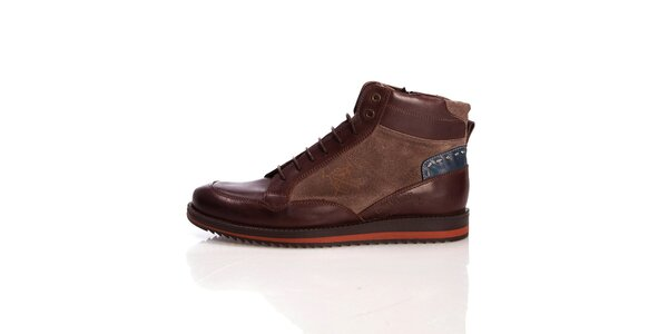 Pánské kožené hnědé boty Galvanni