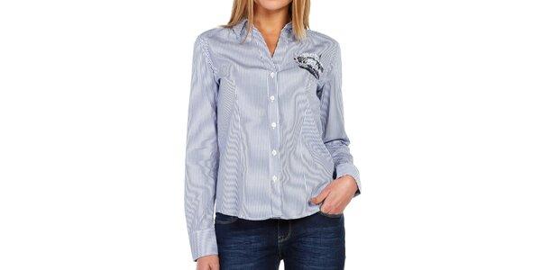 Dámská pruhovaná košile s dlouhým rukávem Galvanni