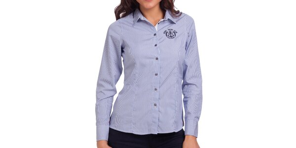 Dámská modro-bílá proužkovaná košile Galvanni