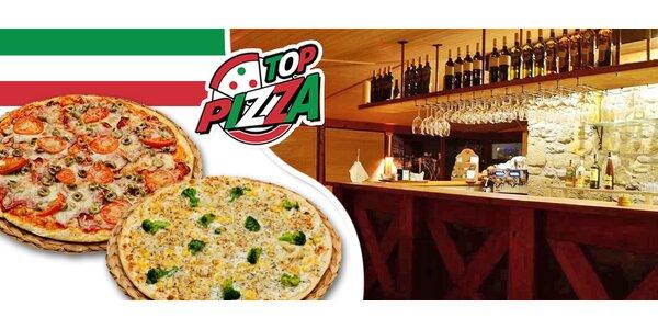 2 křupavé pizzy z Top Pizza dle výběru