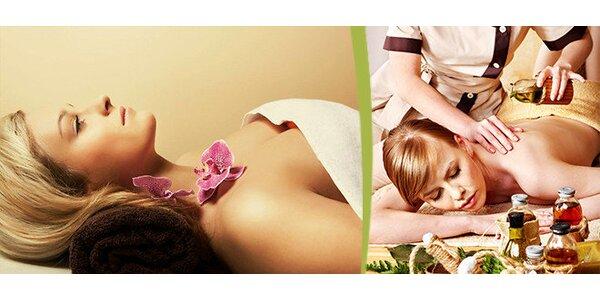 120minutová regenerační kúra - luxusní masáž celého těla (dle vlastního výběru)…