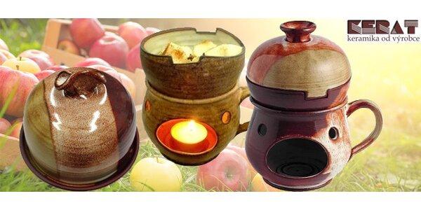 Keramický rozpékač na jablka či česnek