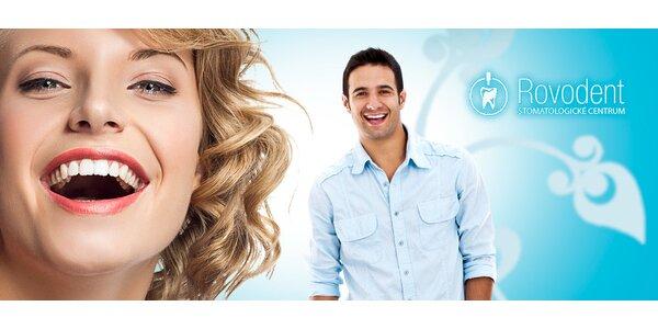 Dentální hygiena nebo bělení zubů 3v1 na klinice ROVODENT