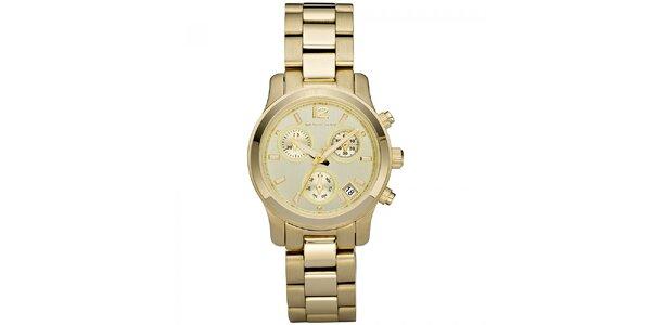 Dámské hodinky z nerezové oceli ve zlaté barvě Michael Kors