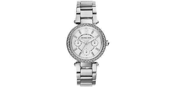 Dámské hodinky z nerezové oceli s malými krystaly Michael Kors