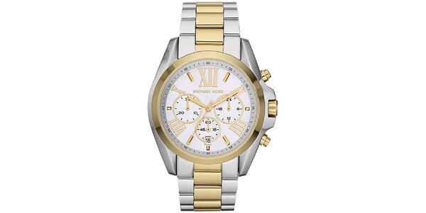 Dámské hodinky s chronografem Michael Kors - stříbrná a zlatá barva