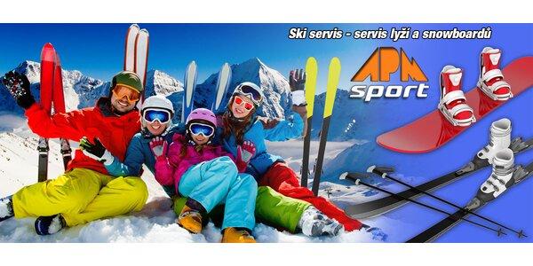 Velký servis lyží a snowboardů v APM Sport