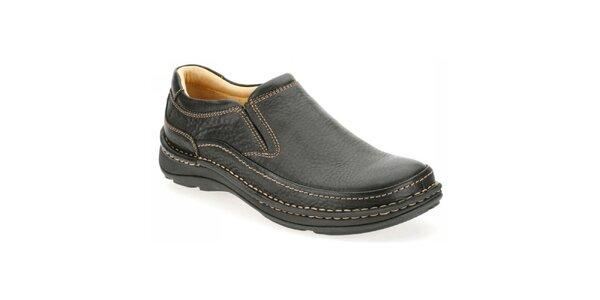 Pánské černé nazouvací boty Clarks