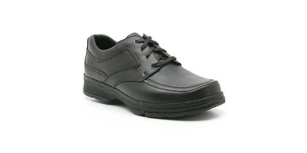 Pánské černé kožené boty se šněrováním Clarks