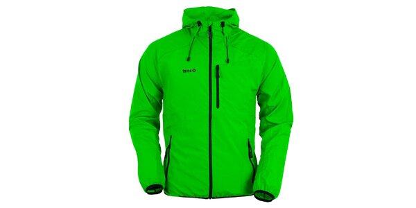 Pánská světle zelená bunda s kapucí Izas