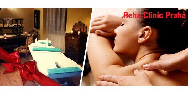 1,5h léčebná masáž těla od odborného terapeuta