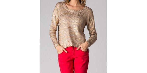 Dámský zlatý svetr Soap Art